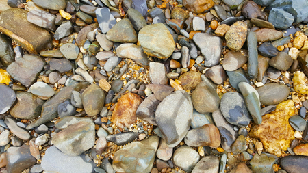 Pebbles, stones, wet, texture, background