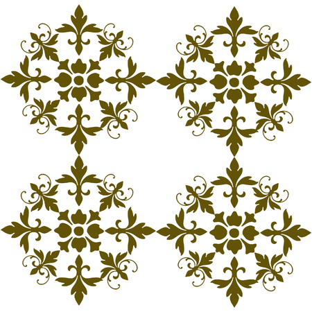Floral ornamental decoration pattern