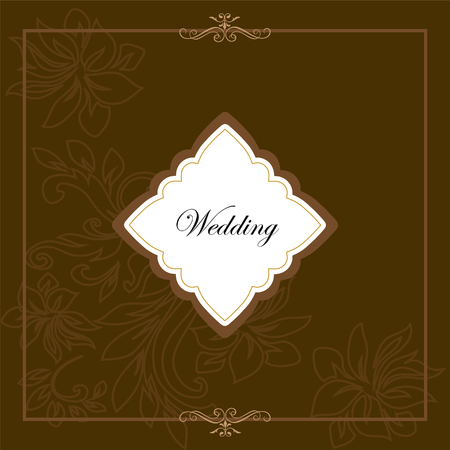 decorative art frame wedding invitation card