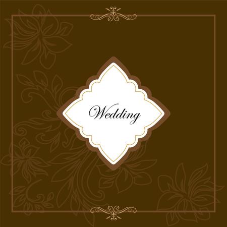 decorative art frame wedding invitation card