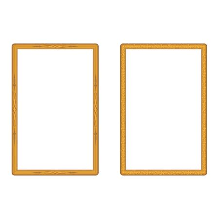 Gold frame classic vector