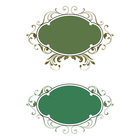 Baroque old decor elements in Vintage borders and frame