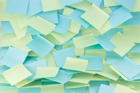 messy patterned wall of sticky notes Banco de Imagens - 18901020