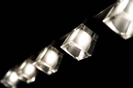 lustre: black and white lamp lustre and black background Stock Photo