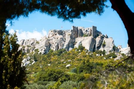 chateau: The Chateau de Baux rests precariously on a mountaintop in Les Baux de Provence, France.