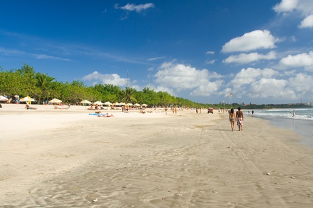 An as-is scene of a real beach in Kuta, Bali, Indonesia