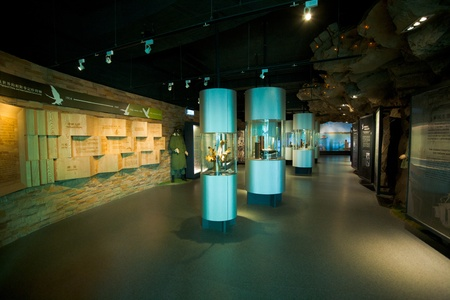 Beigan Island, Taiwan - August 18, 2011:  The recently constructed Military History Museum in the Matzu Island chain.  The Taiwanese government has boosted spending to the area in order to attract tourists to this far corner of Taiwan. August 18 at Beigan Stock Photo - 12160084