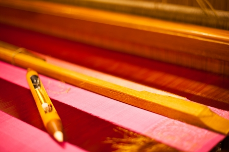 loom: Hand Loom Shuttle Pink Textile Sari