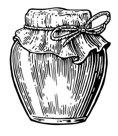 Pot. Vector vintage gravé illustration. main croquis dessiné sur fond blanc.