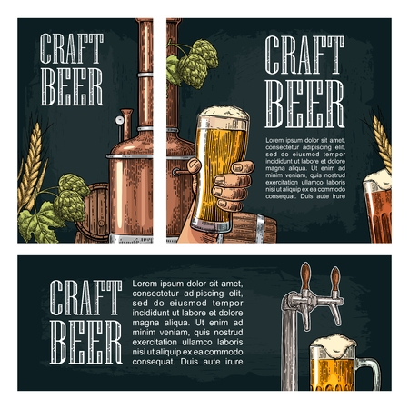 Set horizontal, vertical and square and posters for craft beer.