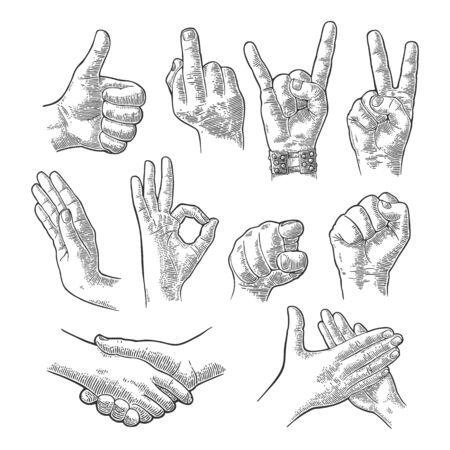 horn like: Male and female Hand sign. Fist, Like, handshake, Ok