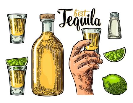 Instellen voor tequila.