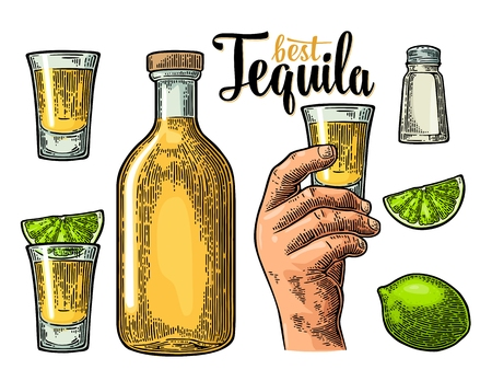 Set for tequila.