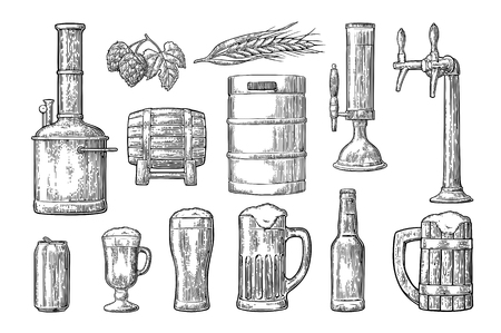 Beer set icon.