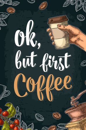 Ok, but first Coffee lettering. Ilustracja