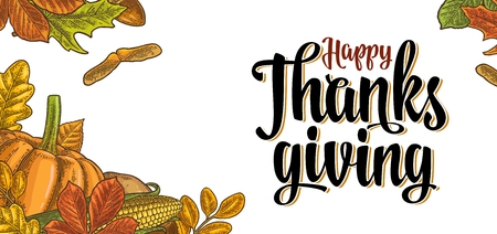 tomate de arbol: Template for greeting card and poster Thanksgiving day
