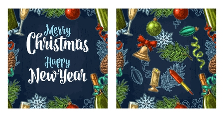 Naadloos patroon met gelukkig Nieuwjaar 2018 kalligrafie letters