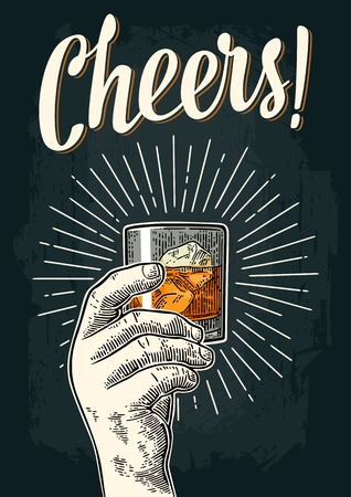 Cheers banner. Illustration