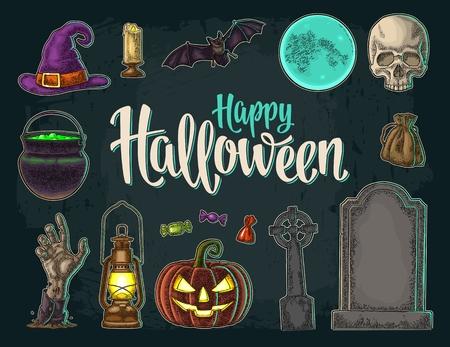Happy Halloween belettering.