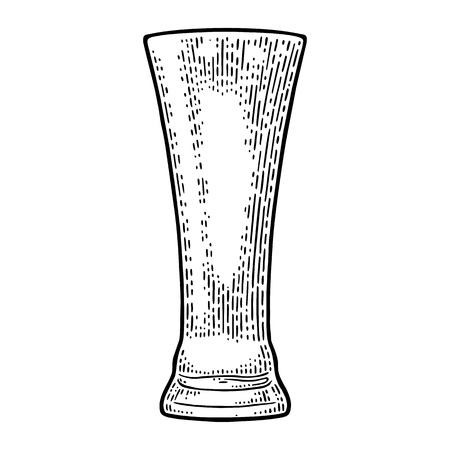 Empty glass beer. Illustration