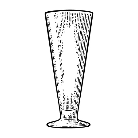 Empty glass for cocktail. Illustration