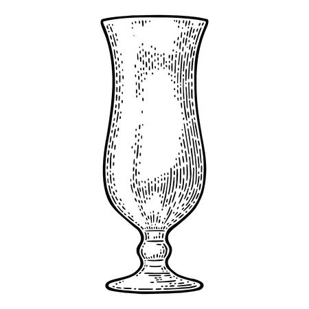 Empty glass cocktail. Illustration