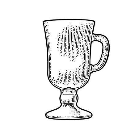 Empty glass of beer.