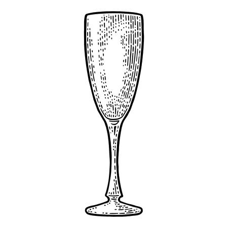 Empty glass champagne. Illustration