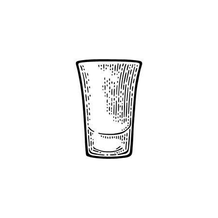 Empty glass tequila.