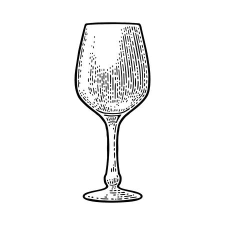 Empty glass wine.