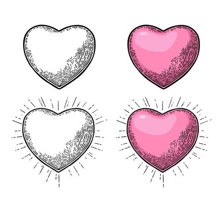 Heart with rays. 向量圖像