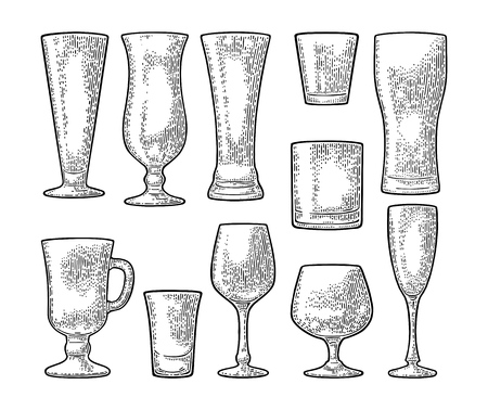 Set empty glasses.