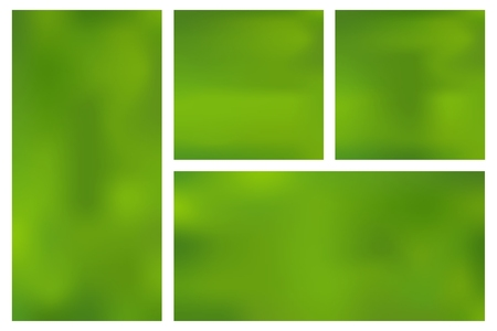 Set template horizontal, vertical, square green mesh gradient background