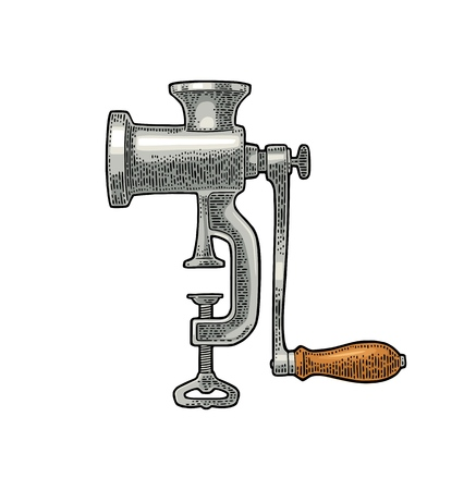 Classic manual meat grinder.