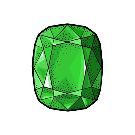 Emerald gem stone.