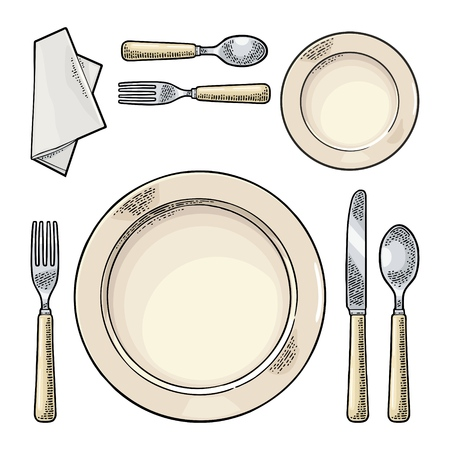 Set of Kitchen utensils vector illustration Vectores