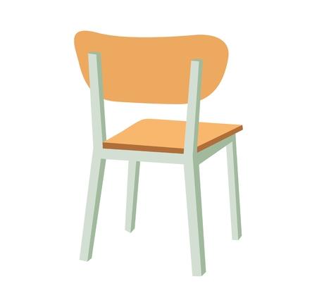 Icono de silla de escuela. Ilustración de color plano de vector.