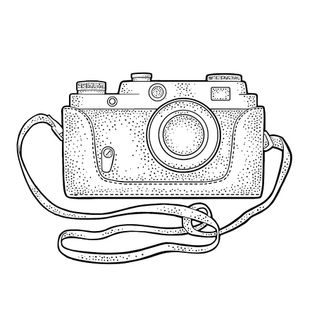 Photo camera icon set. Vector illustration