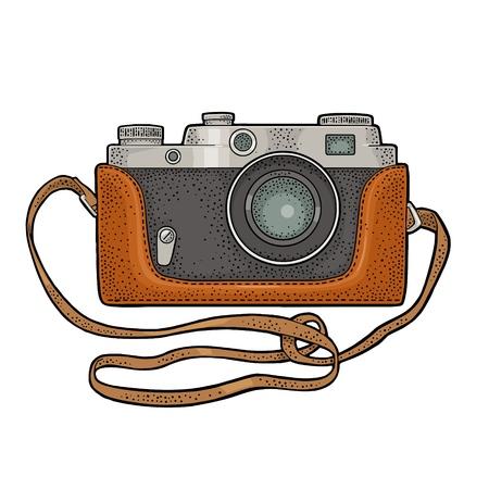 Photo camera icon set. Vector illustration