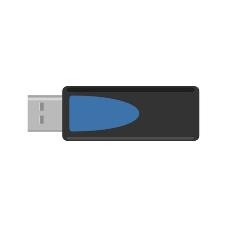 Flash drive usb icon. Vector simple flat color illustration. Фото со стока