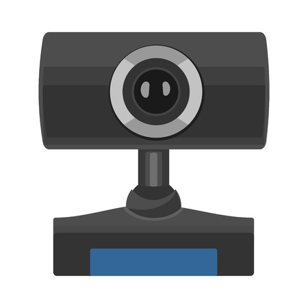 Web camera icon. Vector flat illustration isolated on the white Banco de Imagens