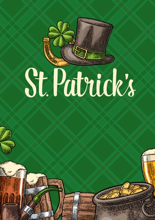 Vertical poster for Saint Patrick s Day.