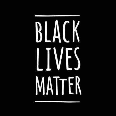 BLACK LIVES MATTER. White handwriting lettering isolated on dark background. 版權商用圖片 - 149669426