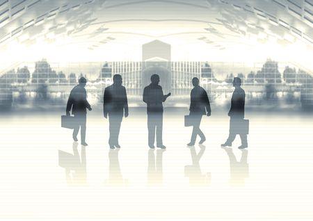 business team on skyline