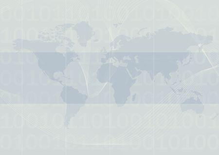 mundo sobre fondo azul