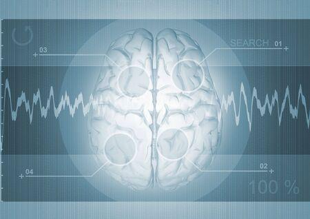 cerebro de antecedentes  Foto de archivo