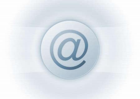 E-mail s�mbolo en fondo azul