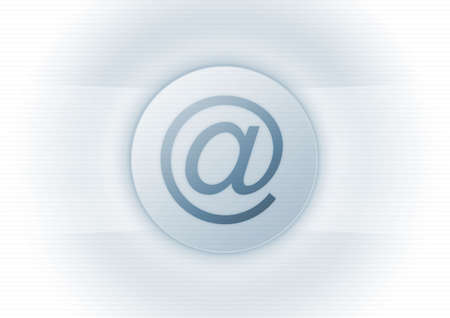 E-mail symbol on blue background