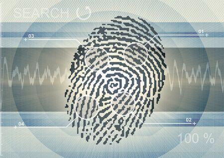 finger print on background