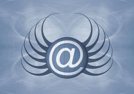 E-mail s�mbolo Foto de archivo